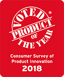 Voted Product of the Year – Consumer Survey of Product Innovation 2018
